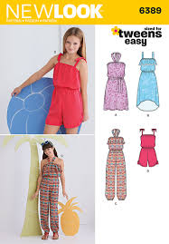 Women's Romper Pattern Adorable New Look 48 Girls' Easy Jumpsuit Romper And Dresses