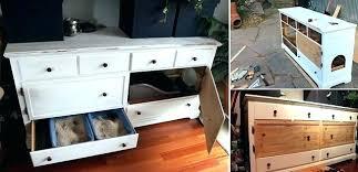 wooden litter box enclosure space saving cat boxes modern furniture