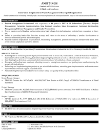 Project Manager Resume Samples Sample Resume For It Project