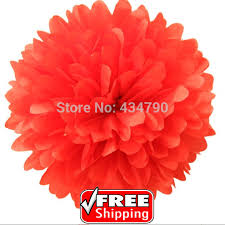 Hanging Paper Flower Balls 20pcs 8 20cm Red Tissue Pom Poms Christmas Hanging Party