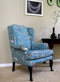 Wingback Chair Modest Maven Vintage Blossom Wingback Chair