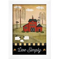 primitive live simply framed print wall art by jennifer pugh on primitive framed wall art with primitive live simply framed print wall art by jennifer pugh