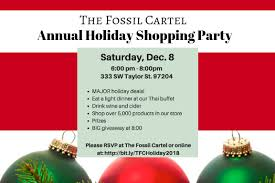 The Fossil Cartel Annual Holiday Shopping Party Flyer 1