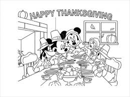 Small Picture Thanksgiving Coloring Pages Printables Disney Coloring Coloring