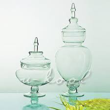 Decorative Glass Candy Jars European decorative glass candy jar glass containers Canister Set 83