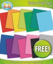 Free 14 Rainbow Grid Graph Paper Set 2 Clipart By Zip A Dee Doo Dah