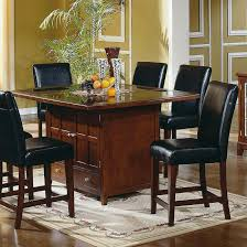 Granite Kitchen Table And Chairs Black Kitchen Table Counter Height Dining Tables Black Black