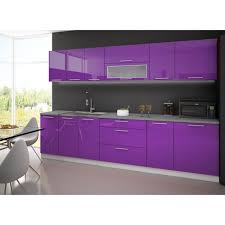 Meuble De Cuisine Violet En Photo