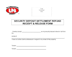 Security T Receipt Template Beautiful Rent Word Letter