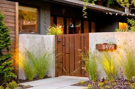 modern metal gate. Modern Courtyard With Concrete Walls And Heavy Metal Gate | HGTV Ultimate Outdoor Awards 2016 B