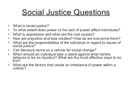 essential questions for students 18 social justice