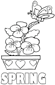 Free Spring Coloring Sheets Printable Spring Coloring Pages