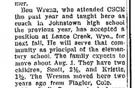 Ben Wrenn family moving from Johnston, Co to WY - Newspapers.com