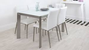 gl dining table and white dining chairs