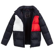 Tommy Hilfiger Skirt Size Chart Tommy Hilfiger Teen Blue Padded Puffer Jacket