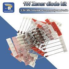 14Values*5pcs=<b>70pcs 1W</b> Zener Diode Package <b>1</b>/2W DO 41 3.3V ...
