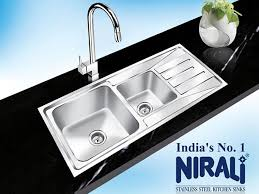 nirali the no 1 kitchen sink company in india has created a distinct mark for itself