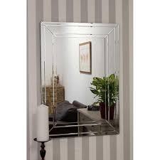 detailed venetian frameless wall mirror