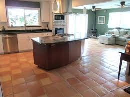 saltillo tile floor installation of 1 2 inch rounded edge super tiles for a kitchen saltillo