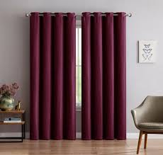 warm home designs 1 panel of extra thick premium burdy red insulated thermal blackout curtains