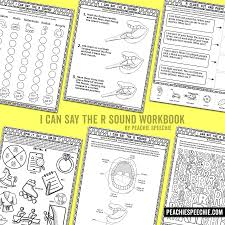 Sound Designer Pay I Can Say The R Sound Articulation Workbook Speech
