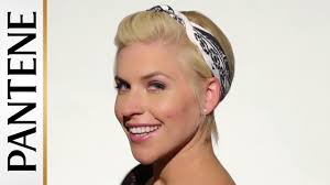 Pin Ups Hair Style easy hairstyles for short hair bandana pinup pixie cut youtube 5857 by wearticles.com