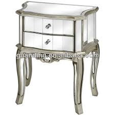 this venetian mirrored 3 drawer bedside table is a perfect standard size side table for most bedrooms it is clean contemporary and chic in design