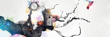abstract art photo combining black white and colors abstract psd box