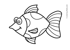 fish drawing for kids free clip art on drawing simple drawings to colour also