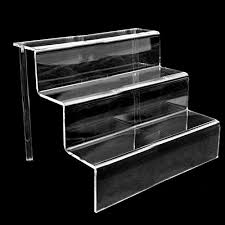 Acrylic Tiered Display Stands Riser 100 Acrylic Tier Display Stand Durable Step Clear Shelf Rack 29