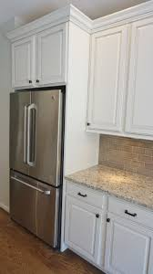 Of Glazed Cabinets This Vanilla Crcme Paint With A Van Dyke Brown Glaze Cabinet Is