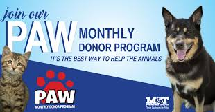 paw pre authorized withdrawal member by selecting the monthly frequency below safe and secure each month we deduct your gift from your credit card