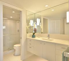 traditional bathroom lighting ideas white free standin. Miami White Shower Tile Ideas With Wooden Bathroom Vanities Tops Beach  Style And Lights Under Cabinets Traditional Lighting Free Standin