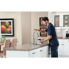 Motionsense Kitchen Faucet Moen Haysfield Single Handle Pull Down Sprayer Kitchen Faucet