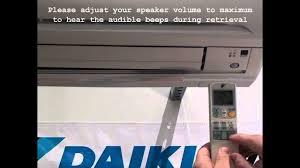 Daikin Inverter Ac Blinking Green Light Daikin Ra Split System Fault Code Retrieval