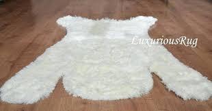 faux polar bear rug image 0