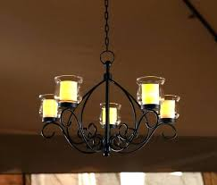 candle chandelier non electric votive candle chandelier outdoor