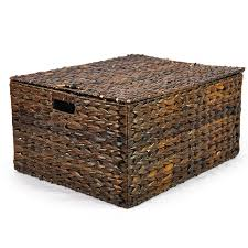 extra large wicker baskets.  Large Audrey Mahogany Storage Basket Removable Lid  Large 20in To Extra Wicker Baskets I