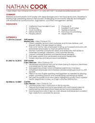 choose leadership examples for resume