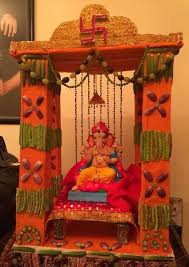 ganpati decoration ideas at home temple decoration ideas