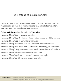 chef resume samples sample  seangarrette cochef resume samples