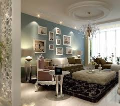 crystal chandelier make this living room design more elegant looks 570