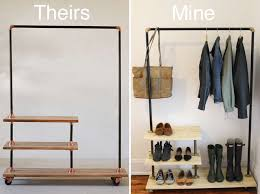 Industrial Pipe Coat Rack Very Cool Industrial Clothes Rack House Junkie With Regard To 32