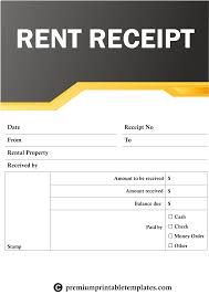 Rent Receipt Form Maxresdefault Monthly Rent Receipt Template Format India For