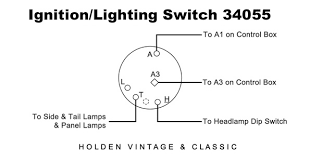wiring diagrams for classic car parts from holden vintage classic plc type ignition lighting switch