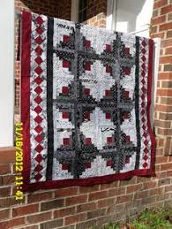 Queen size Log Cabin Black White and Pink Sale by MaryMackMadeMine ... & black white red quilt patterns | Black White Red Log Cabin by nancybus |  Quilting Ideas Adamdwight.com