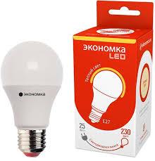 <b>Лампа</b> светодиодная <b>Экономка LED</b> A60, цоколь <b>E27</b>, 25 Вт, 3000 ...