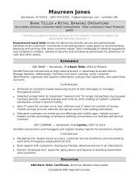 Bank Resume Template Unique Bank Teller Resume Sample Monster