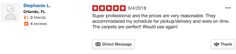 customers are leaving reviews with our certified oriental rug cleaning team