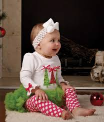 2 Piece Mud Pie Christmas Trees Baby Holiday Tutu Outfit, Tutu Set